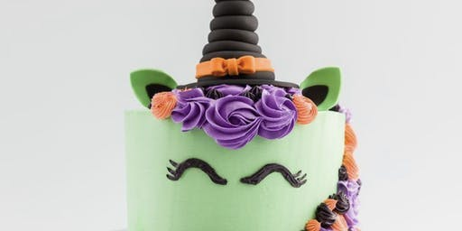 Kids Only Halloween Witch Unicorn Cake Decorating Class