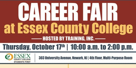 Career Fair at Essex County College - Training, Inc. tickets