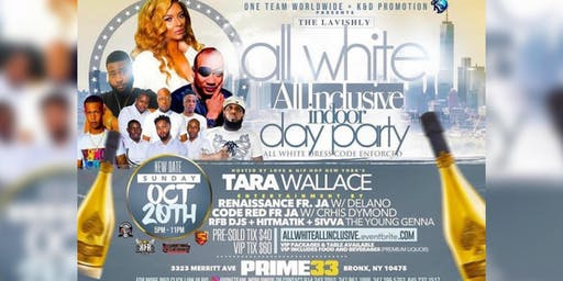 All  White All Inclusive  Indoor Day Party