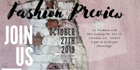 Fashion Preview tickets