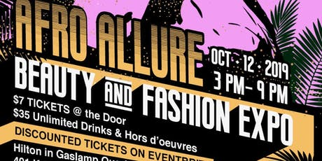 THE AFRO ALLURE BEAUTY& FASHION EXPO tickets