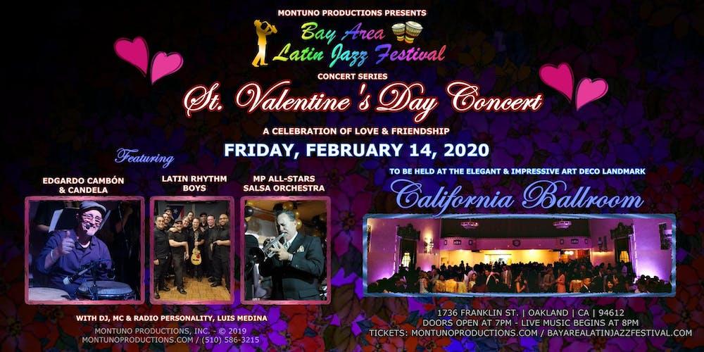 Richmond Jazz Festival 2020.St Valentine S Day Concert At The California Ballroom