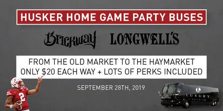 Husker Football Party Bus 9/28/19 tickets