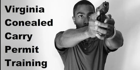 VIrginia Concealed Handgun Permit Training (Live Fire!) tickets