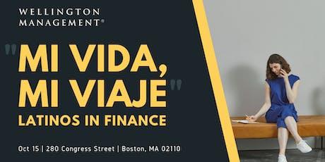 """Mi Vida, Mi Viaje"" - Latinos in Finance tickets"