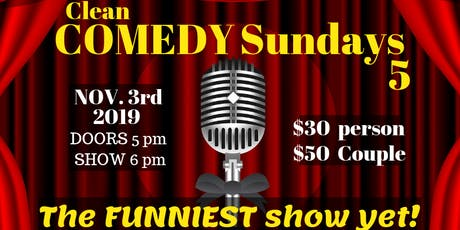 BBDI Clean Comedy Sundays #5 Show tickets