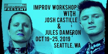 Improv Workshop with Josh & Jules tickets