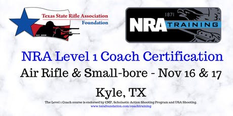 NRA Level 1 Coach - RIFLE tickets