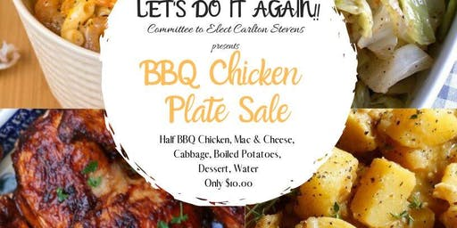 Carlton Stevens BBQ Chicken Plate Sale