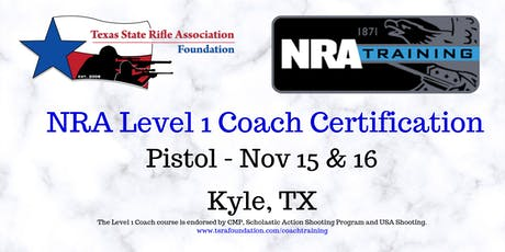 NRA Level 1 Coach - PISTOL tickets