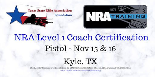 NRA Level 1 Coach - PISTOL