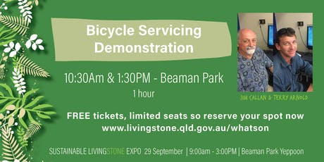 """Jim Callan & Terry Arnold - Activity """"Bicycle Servicing Demonstration tickets"""