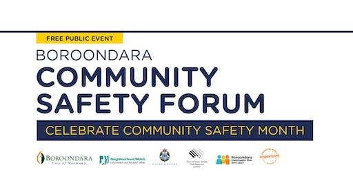 City of Boroondara Community Safety Forum