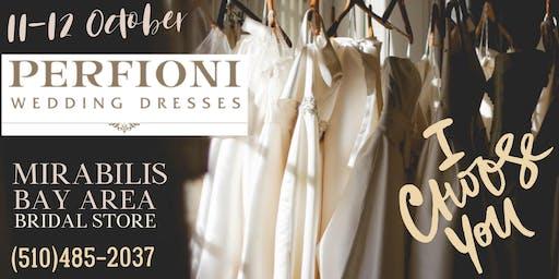 PERFIONY trunk show, wedding dresses sale event