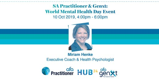 SA Practitioner  & Genxt World Mental Health Day Event