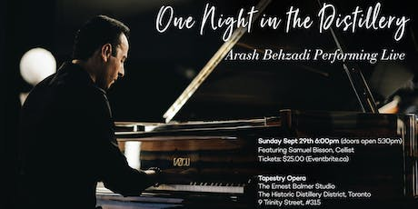 """One Night in the Distillery""  Arash Behzadi Live at Tapestry Opera tickets"