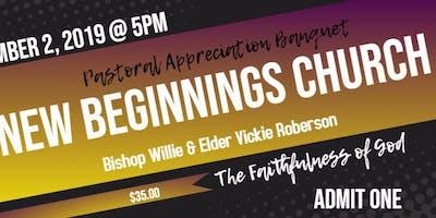 20th Pastoral Appreciation Banquet Bishop Willie A. Roberson