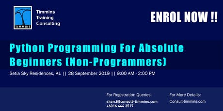 Python Programming for Absolute Beginners (non Programmers) in Malaysia tickets