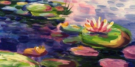 Monet's Waterlilies (2hr Paint & Sip) - BYO Food & Drink