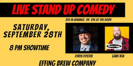LIVE Stand Up Comedy at Effing Brew with Gabe Kea