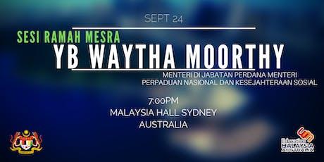 Sesi Ramah Mesra Bersama YB Waytha Moorty tickets