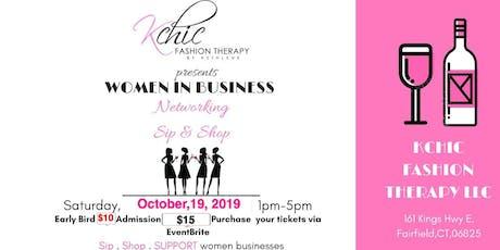 Women in business networking Sip & Shop tickets