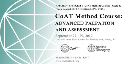 CoAT Advanced Palpation and Assessment, Cycle 12