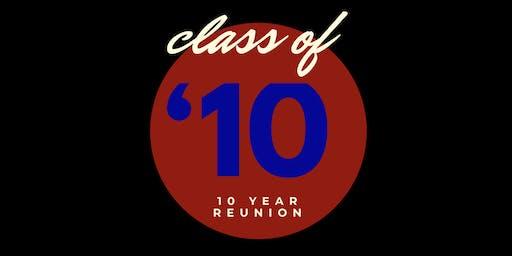 Class of 2010 Ten Year Reunion
