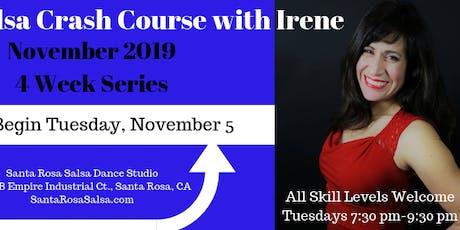 Salsa Crash Course with Irene - November 2019 Series tickets