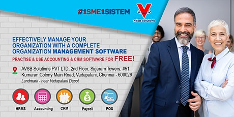 Effectively manage your organization with a complete organization management software .Practice and use  accounting & CRM software for FREE! tickets
