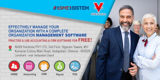 Effectively manage your organization with a complete organization management software .Practice and use  accounting & CRM software for FREE!