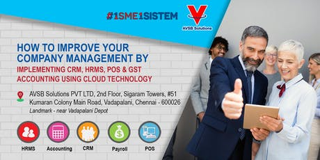 How to Improve Your company Management by Implement CRM, HRMS, POS & GST Accounting Using Cloud Technology tickets