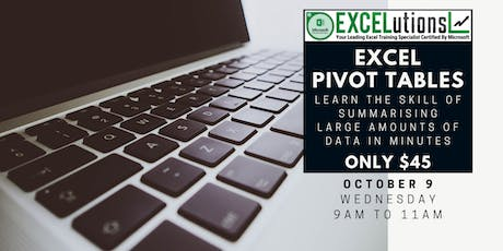 Excel Pivot Tables - Manage the Unmanageable tickets