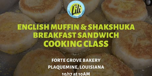 English Muffin and Shakshuka Breakfast Sandwiches Cooking Class