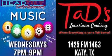 Music Bingo at TaD's of Katy, TX tickets