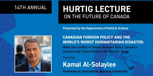 14th Annual Hurtig Lecture featuring writer and professor Kamal Al-Solaylee