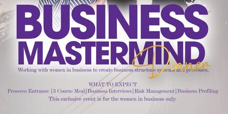 Business Mastermind Exclusive Dinner tickets