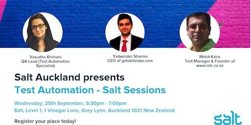 Test Automation - Salt Sessions
