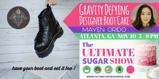 Designer Boot Cake with Mayen Orido
