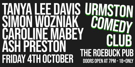 Urmston Comedy Club - Friday 4th October 2019 tickets