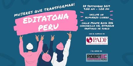 Editatona PADF & Robotec Perú entradas