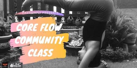 Core Flow Community Class tickets