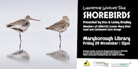 Wildlife Talk - Shorebirds presented by Don & Lesley Bradley - Maryborough Library tickets