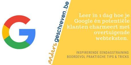 SEO copy opleiding op 15 november 2019 in Kampenhout tickets