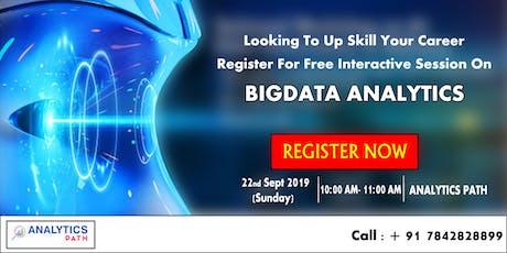 Attend Free Workshop On BigData Analytics To Begin Your Career In Analytics tickets