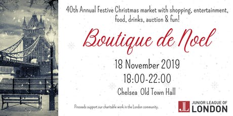 Junior League of London's 40th Boutique de Noel tickets