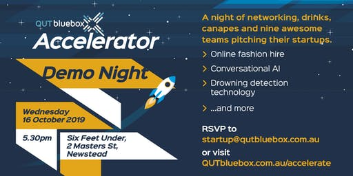 QUT bluebox Accelerator Demo Night - Oct 2019