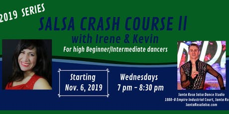 Salsa Crash Course II with Irene & Kevin - Nov. 2019 Series tickets