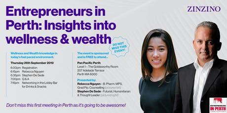Entrepreneurs in Perth - Insights into Wellness & Wealth tickets