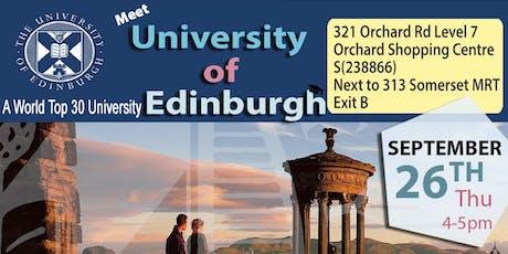 Meet World Top 30 - Uni of Edinburgh in Singapore tickets
